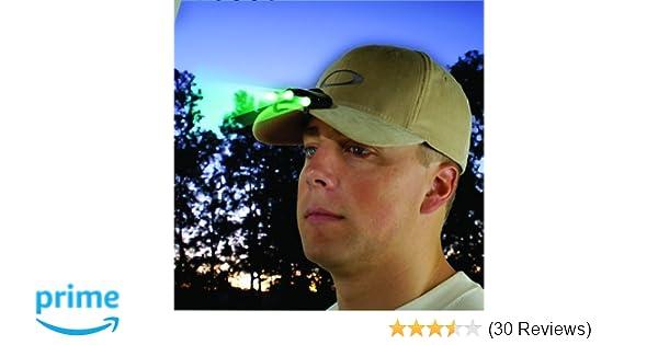 New Cyclops Orion Black Hat Clip Light w// 3 Green LED Bulbs Model# CYC-HC1-G