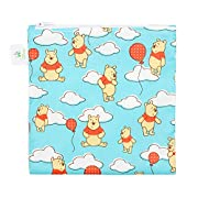 Bumkins Disney Baby Reusable Snack Bag Large, Winnie The Pooh Balloons