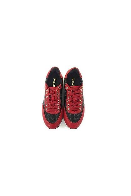 15dc1c1f5c Pollini,Sneakers Donna,Tapiro Nero Vit.Rosso (40): Amazon.it: Scarpe ...