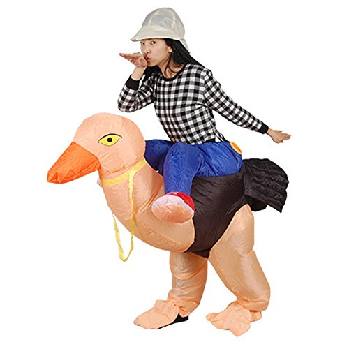 H&ZY Inflatable Halloween Costume Adult and Children Carry On Animal Fancy Dress Costumes Ostrich -