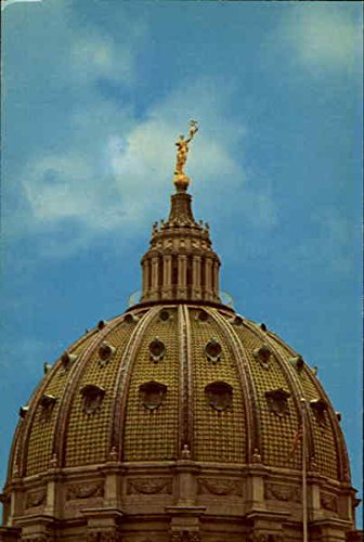 Capitol Dome With Statue Atop Harrisburg, Pennsylvania Original Vintage Postcard