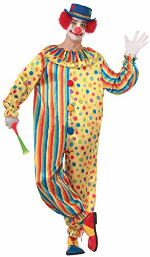 Clown Adult Male Costumes (Forum Novelties Men's Spots The Clown Costume, Multi, X-Large)