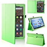 """All-New Fire HD 10 Case 7th Generation, LTROP Premium Folio Smart Stand Cover with Auto Wake/ Sleep Function, Ultra Lightweight Case for Amazon Fire HD 10 Tablet 10.1"""" 2017 Release - Green"""
