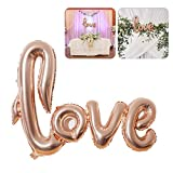 NUOLUX Jumbo Foil Love Balloon Romantic Wedding Bridal Shower Anniversary Engagement Party Decoration