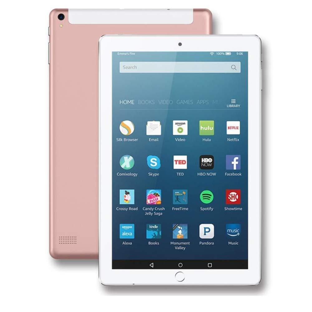 10インチの3g タブレットコールグーグルアンドロイド 4.4 mtk6582 クアッドコアクアッドコア IPS GPS タブレット無線 lan Bluetooth ハンドヘルドコンピュータクリスマスプレゼント (1 枚),Pink B07L1TP5NM  Pink