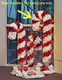 Northlight Seasonal 21293390 5 ft. Pre-Lit Tinsel Candy Cane Christmas Yard Art - Clear and Red Lights