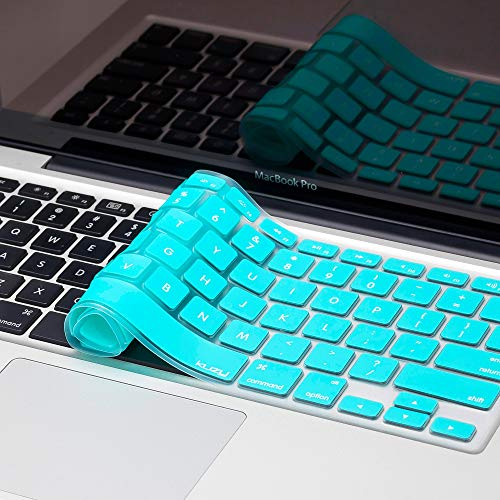 Kuzy - Teal / Turquoise HOT Blue Keyboard Silicone Cover Skin for Macbook / Macbook Pro 13 15 17 Aluminum Unibody (fits MacBook with or w/out Retina Display)