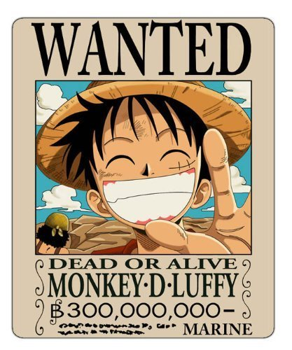 Anime One Piece Luffy Wanted Mouse Pad: Amazon.es: Hogar