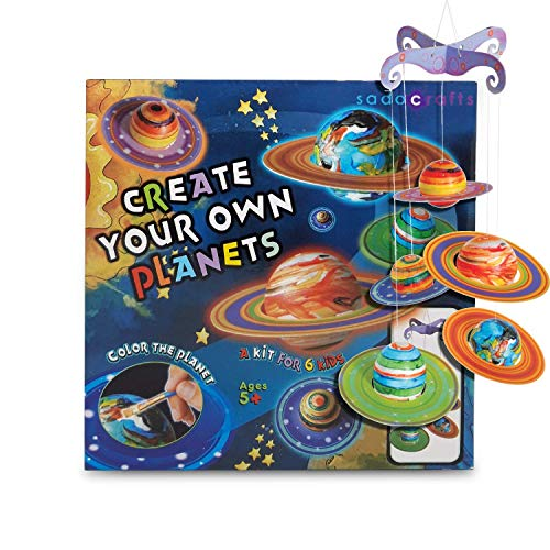 SadoCrafts Create Your Own Planets - Educational Planetarium Space Toys, DIY Painting Craft Science Kit, Fun and Interactive Solar System for Kids