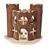 Zaote Wooden Villa House Castle Toy for Hamster Gerbil Rat Mouse Small Animal Climbing Playing
