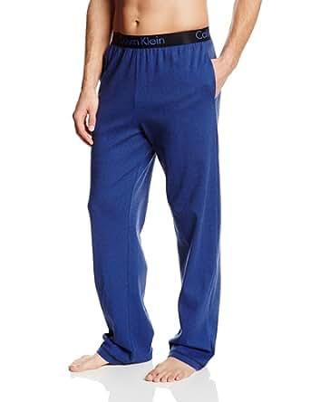 Calvin Klein Men's Dual Tone Pajama Pant, Black/Cobalt Blue, Small