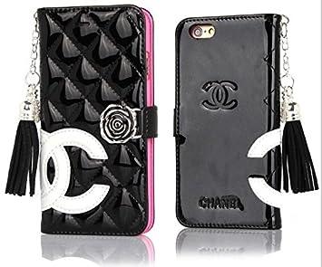 b1215134b66b Amazon | Chanelシャネル iPhone 6/6S 手帳型ケース/カバーアイフォン6 ...