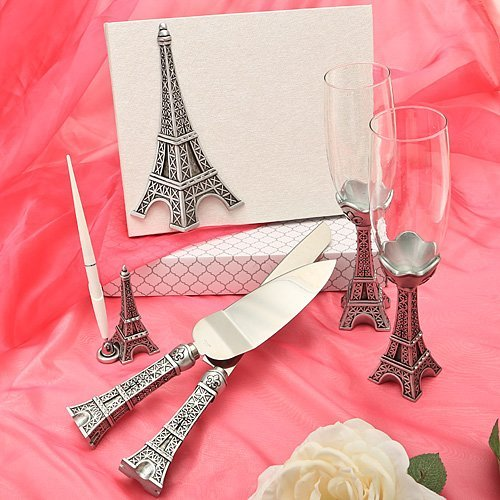 Eiffel Tower design wedding day accessories, 1 (Knife Wedding Favors)