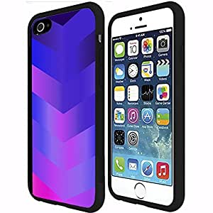 Purple Blue and Pink Gradient Arrows Pattern Rubber Snap on Phone Case (iPhone 6 Plus)