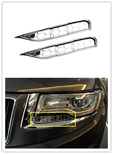 Highitem 6PCS Car Headlight Spray Trim Head Light Lamp Clean Exterior Styling Chrome For Jeep Grand Cherokee 2014-2016 - Jeep Cherokee Chrome Headlight Trim