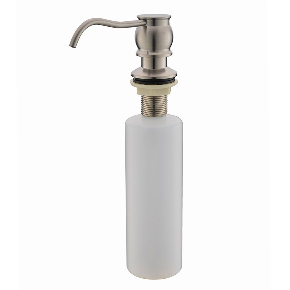 Amazon.com: SOTTAE Kitchen Soap Dispenser, Brsuhed Nickel Kitchen Sink Liquid Soap Pump, Stainless Steel: Home & Kitchen