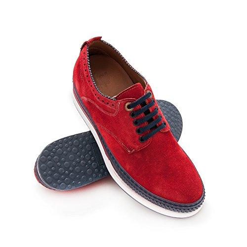 Rot Zerimar Erhöhen die Ihre Erhöhungen mit erhöhen cm für Schuhe Schuhe Sie Herrenschuhe Männer 7 Höhe 41RwZ4