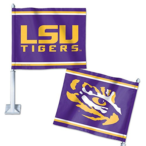 LSU Tigers Official NCAA 14 inch Car Flag by Wincraft by WinCraft