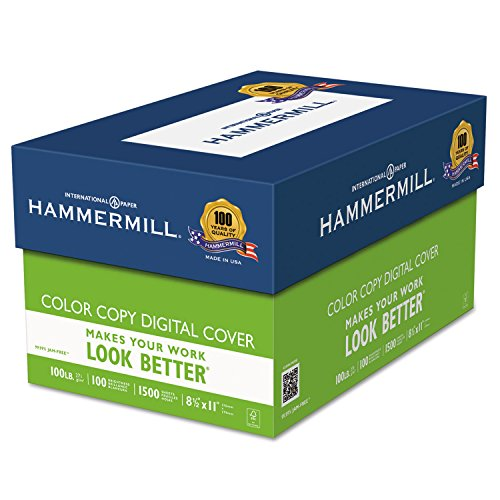 Hammermill Copier Digital Cover Stock, 100 Lbs., 8 1/2 X ...