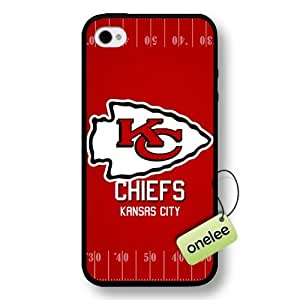 NFL Kansas City Chiefs Team Logo Case For HTC One M8 Cover Black Hard Plastic Case CovBlack