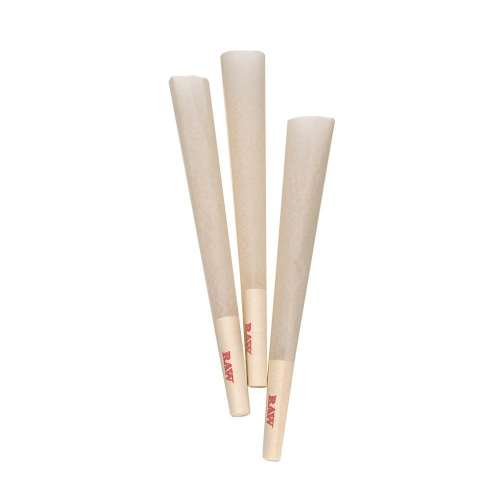 All Natural Organic Hemp Pre-Rolled RAW Classic King Size Cones with Filter (120 Pre-Rolled Cones with Tips)
