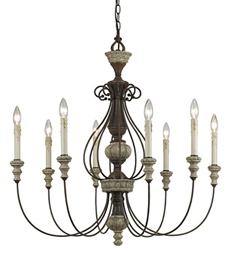Cal Lighting FX-3535/8 Chandelier with No Shades, 33