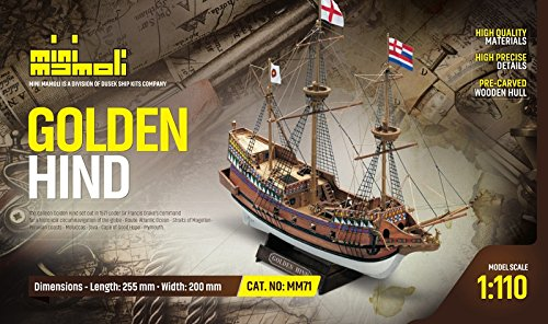 MINI MAMOLI - Modello Kit Barca Golden HIND Serie Scala 1:110 - DUS_MM71