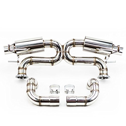 Rev9(CB-302) Cat-Back Exhaust, Stainless Steel, X-Pipe, 2.75 Inch, Audi R8 4.2L V8 2008-15(13-15 Models Requires Hanger Bracket Modification)