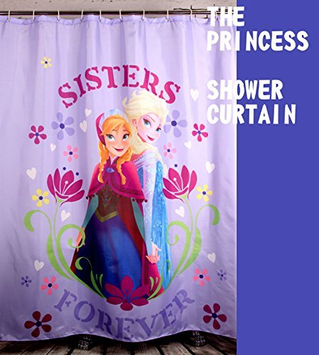 Garnet Hill Kids - E-gift Princess Sisters Fabric Shower Curtain For Kids Girls - 72