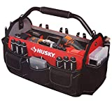 Husky 17in. Open Tool Tote w/ Rotating Handle by