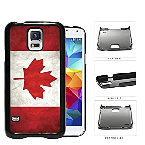 Canada State Flag Red and White Grunge Hard Snap on Phone Case Cover Samsung Galaxy S5 I9600