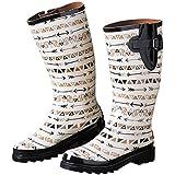 Blazin Roxx Women's Mesa Round Toe Rain Boots, Multi Rubber, 7 M