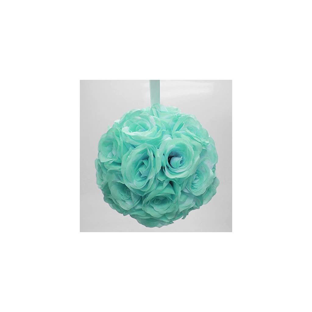 Ben-Collection-10-Flower-Rose-Kissing-Ball-Multi-Color-Home-Wedding-Decoration