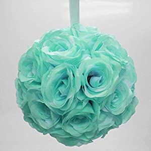 "Ben Collection 10"" Flower Rose Kissing Ball Multi Color Home Wedding Decoration 96"