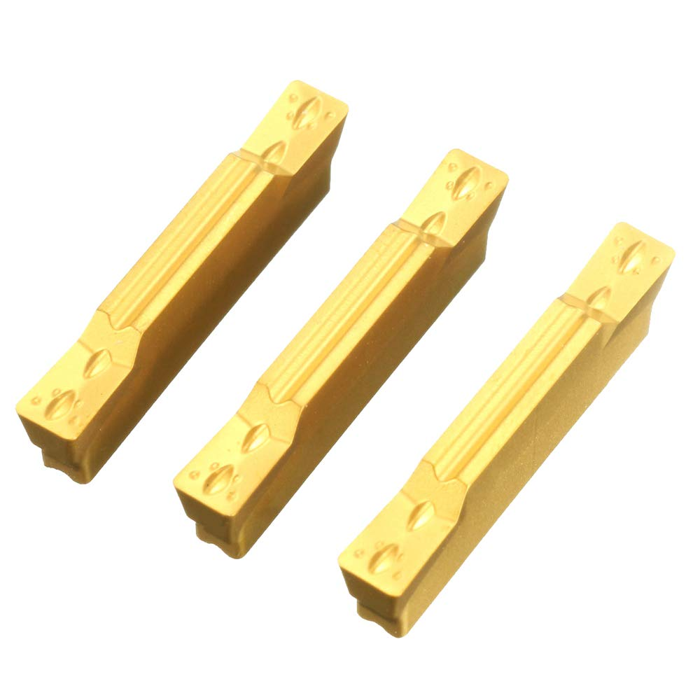 Leepesx 10Pcs MGMN300-M Carbide Inserts 3mm Width for MGEHR//MGIVR Grooving Cut-Off Tool