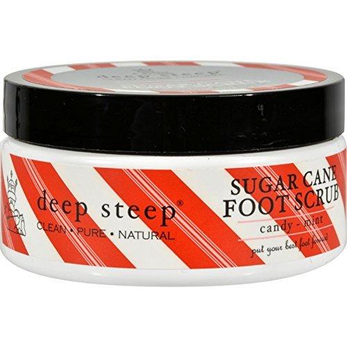 Deep Steep Foot Scrub, Sugar Cane, Candy - Mint, 8 Ounce (Pack of 4)