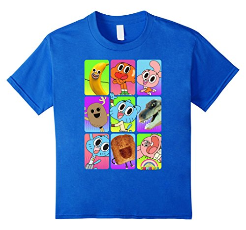 Kids CN Amazing World of Gumball Cast Pictures Graphic T-Shirt 6 Royal Blue
