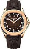 Patek Philippe Aquanaut Brown Dial 18k Rose Gold Brown Rubber Automatic Mens Watch 5167R-001