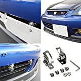 crossfire plate bracket - iJDMTOY Universal Fit JDM Bumper License Plate Relocator Bracket Holder w/ Angle Adjustable for JDM Style