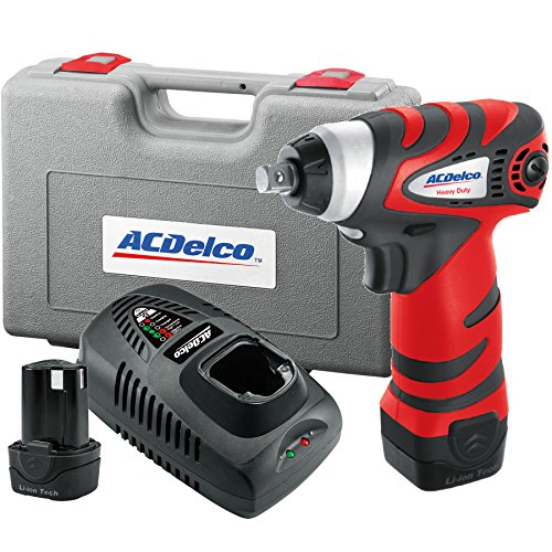 ACDelco ARI1278-3 Li-ion 12V 3/8-inch Impact Wrench, 77 ft-lbs, 2 battery included