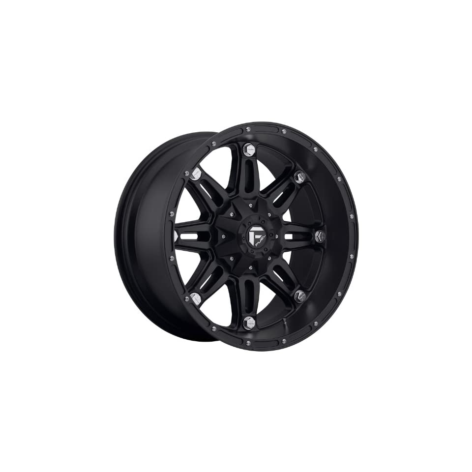 Fuel Hostage 17 Black Wheel / Rim 6x135 & 6x5.5 with a  12mm Offset and a 106.4 Hub Bore. Partnumber D53117909845