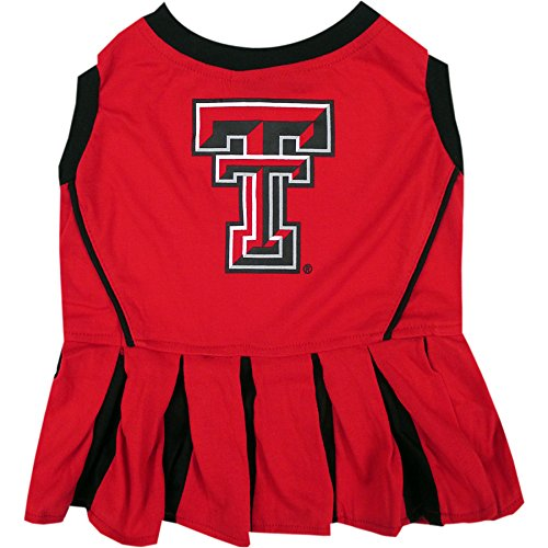 NCAA Texas TECH RED Raiders Dog Cheerleader Outfit, Small