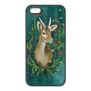 K-G-X Phone case For Apple Iphone 5 5S Cases Case-Pattern-13 Animal Deer Protective Back Case