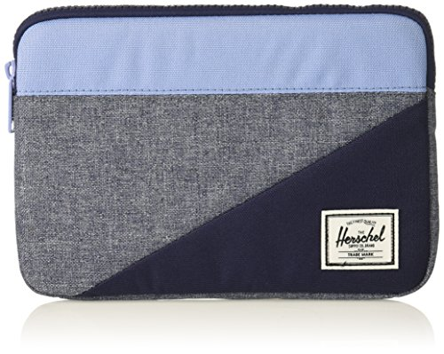 Herschel Supply Co. Unisex-Adult's Anchor Sleeve for iPad Mini, Dark Chambray Crosshatch/Hydrangea/Peacoat, One -