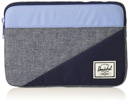 Herschel Supply Co. Unisex-Adult's Anchor Sleeve for iPad Mini, Dark Chambray Crosshatch/Hydrangea/Peacoat, One Size