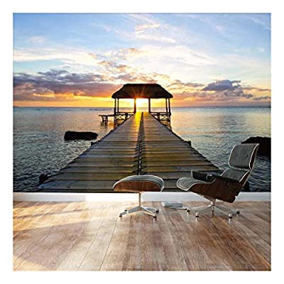 Beautiful Inspiring Calmness at Sunset - Landscape - Wall Mural, Removable Sticker, Home Decor - 66x96 inches