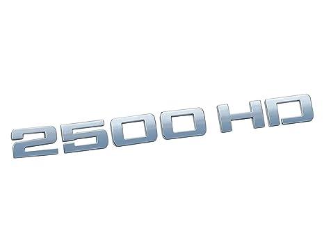 Chrome 2500HD 2500 HD Nameplates Emblems Badges for GM Silverado Sierra 2