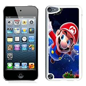 Hot Sale And Popular iPod Touch 5 Case Designed With mario space characters stars White iPod Touch 5 Phone Case