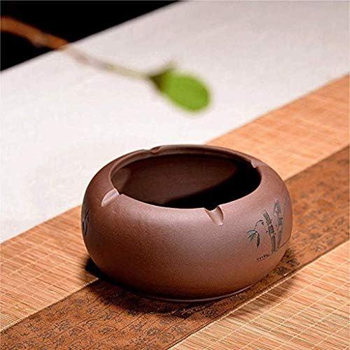 SRX 灰皿ギフト竹の灰皿の竹は、手作りの紫砂の灰皿の装飾品を刻まれました