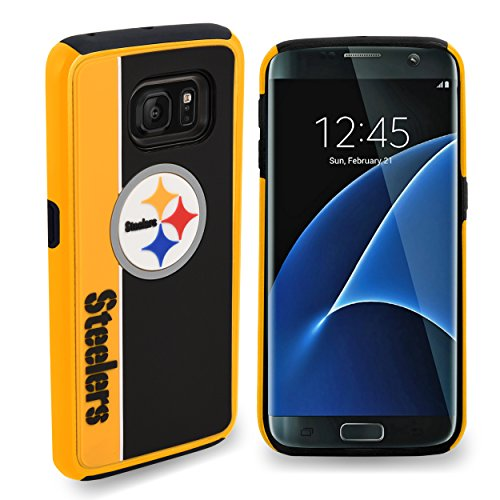 (Pittsburgh Steelers Samsung Galaxy S8 Plus Bold Dual Hybrid TPU Cover - 6.2
